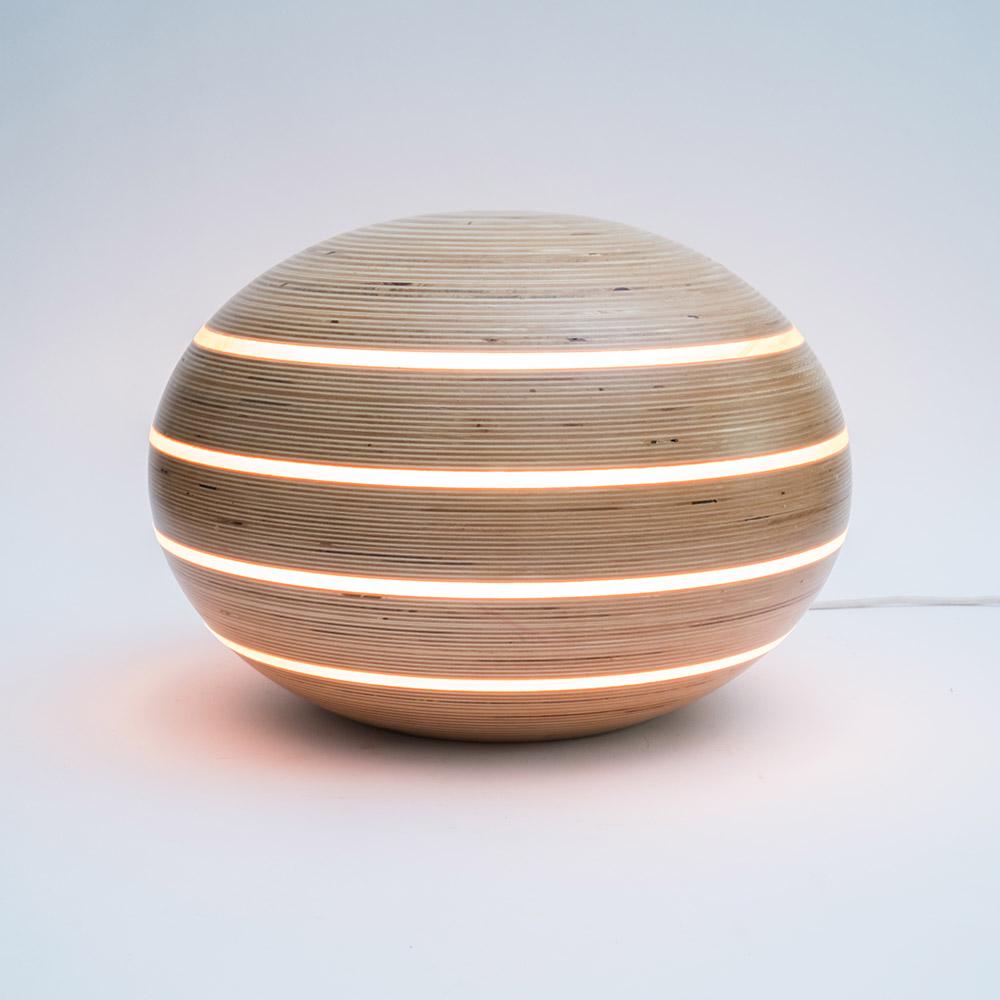 Mood Ellips Lamp Birch Wood Design By Leon Van Zanten